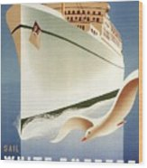 Sail White Empress To Europe - Canadian Pacific - Retro Travel Poster - Vintage Poster Wood Print