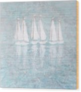 Sailaway By V.kelly Wood Print
