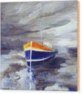 Sailboat 1.0 Wood Print