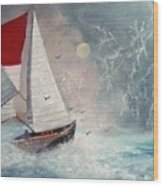 Sailboat 2 Wood Print