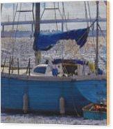 Sailboat And Dingy Wood Print