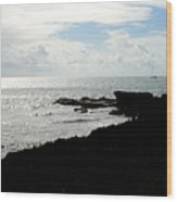 Sailboat At Point Wood Print