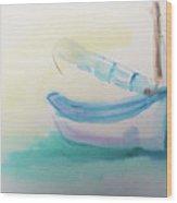 Sailboat At Rest 4 Wood Print