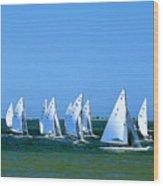 Sailboat Championship Racing 1 Wood Print