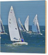 Sailboat Championship Racing 2 Wood Print