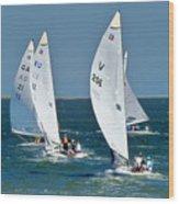 Sailboat Championship Racing 5 Wood Print