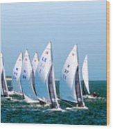 Sailboat Championship Regatta Wood Print