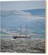 Sailboat Galway Ireland Wood Print