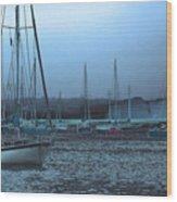 Sailboat Harbor Wood Print