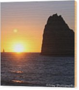 Sailboat In The Sunset Cabo San Lucas Mexico Wood Print
