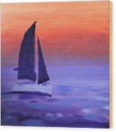 Sailboat Large 2015 Wood Print