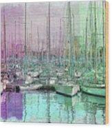 Sailboat Lineup - Watercolor Wood Print