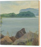 Sailboat Near Croton Landing Wood Print