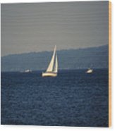 Sailboat On Seneca Lake Wood Print