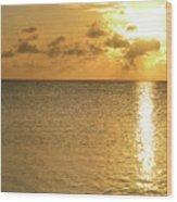 Sailboat On The Horizon 3 Wood Print