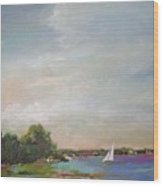 Sailboat Painting Meet You There Wood Print