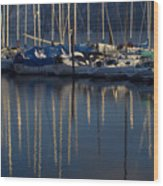Sailboat Reflections Wood Print