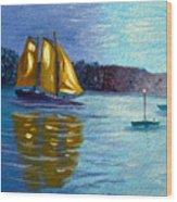 Sailboat-  Sailing- Come Sail Away Wood Print