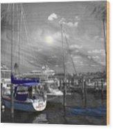 Sailboat Series 14 Wood Print