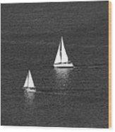 Sailboats 1 Wood Print