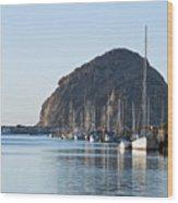 Sailboats In Morro Bay Wood Print