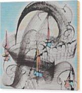 Sailboats On The San Francisco Bay Wood Print