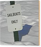 Sailboats Only Wood Print