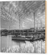 Sailer's Delight Black And White Wood Print