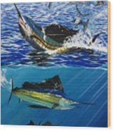 Sailfish In Costa Rica Wood Print