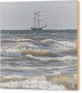 Sailin Home Wood Print