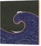 Sailin The Wave Wood Print