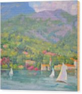 Sailing - Lake Como Wood Print
