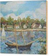 Sailing 1 Wood Print