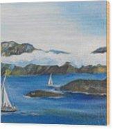 Sailing 2 Wood Print