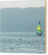 Sailing At La Playa Wood Print