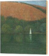 Sailing At Trelissick Wood Print