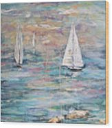 Sailing Away 1 Wood Print