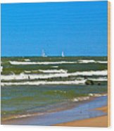 Sailing Away Wood Print