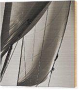 Sailing Beneteau 49 Sloop Wood Print