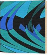 Sailing Blue - Left Wood Print