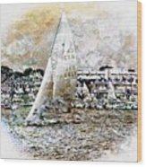 Sailing Boat, Nautical,yachts, Seascape Wood Print