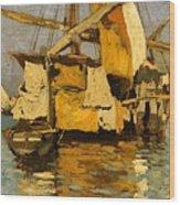 Sailing Boat On The Canale Della Giudecca Wood Print
