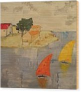 Sailing-boats Wood Print