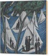 Sailing Boats Near Grunau Wood Print