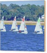 Sailing Charleston Harbor Wood Print