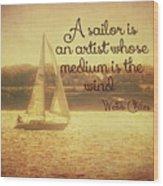 Sailing Chiles Wood Print