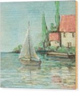 Sailing Day After Monet Wood Print
