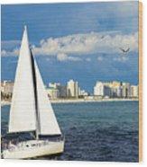 Sailing Destin, Fl Wood Print