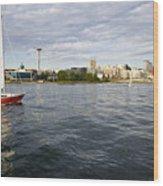 Sailing Downtown Wood Print