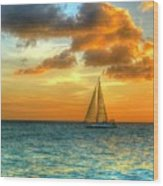 Sailing Free Wood Print